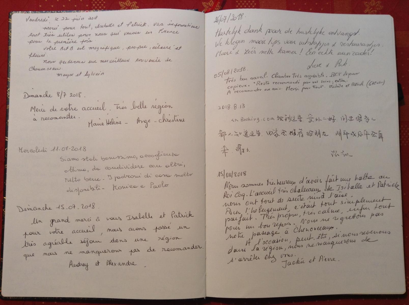 Livre d'or B&B Le Roi Coq pages 5/6